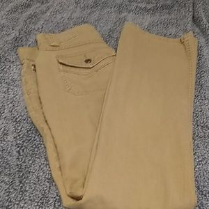 Vintage tan Jeans button pockets